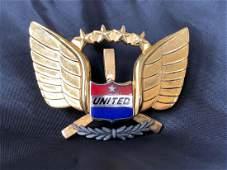 United Airlines Cockpit Crew / Captains Badge