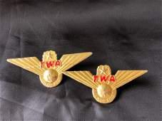 TWA Airlines 1960s Junior Pilot Wings