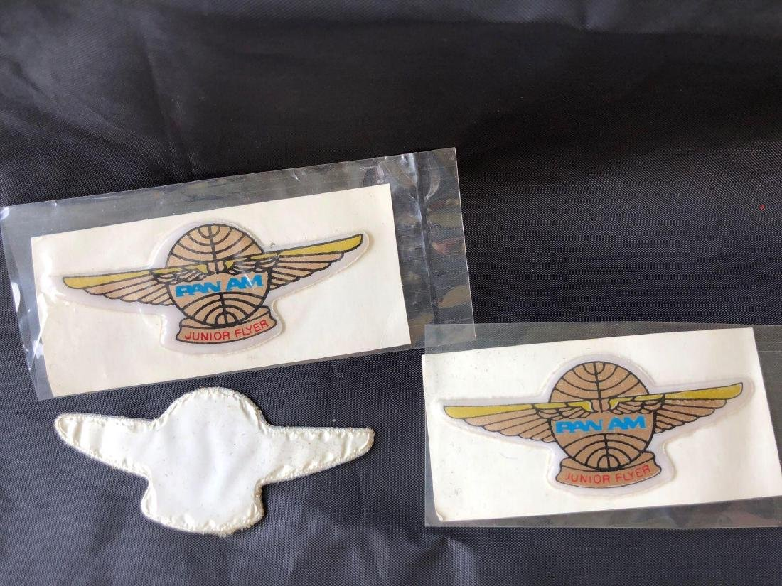 Pan American Airlines 1950's Junior Flyer Patches - 2