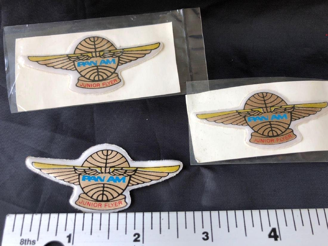 Pan American Airlines 1950's Junior Flyer Patches - 3