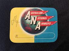 Australian National Airways Luggage Sticker  Decal  L