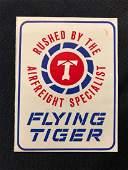 Flying Tigers Air Freight Luggage Sticker / Decal / Lug