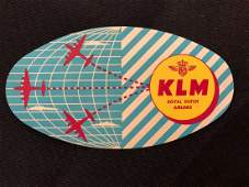 KLM Airlines Royal Dutch Luggage Sticker  Decal  Lugg