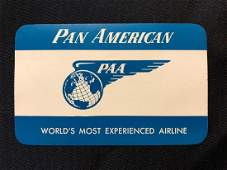 Pan American PAA 1950s Sticker  Decal  Luggage Label