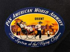 Pan American World Airways PAA 1950s Orient Sticker