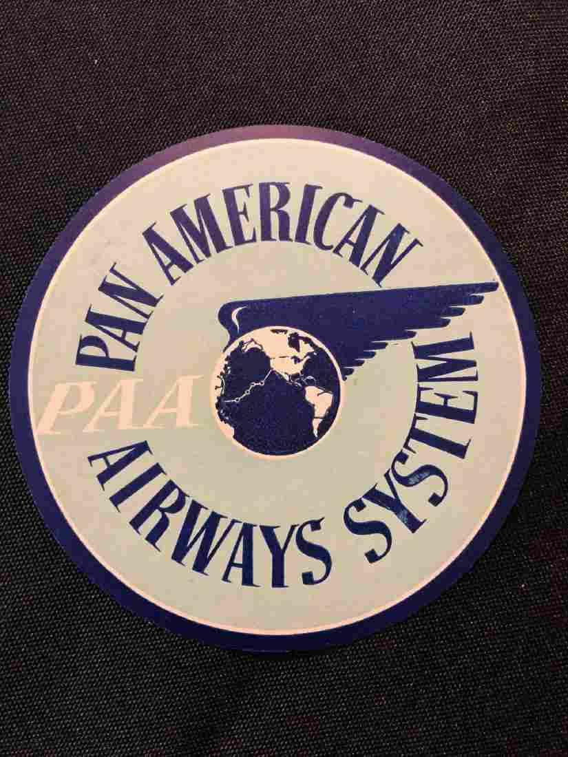 Pan American Airways System PAA Sticker / Decal / Lugga