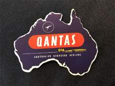 Qantas Sticker  Decal  Luggage Label