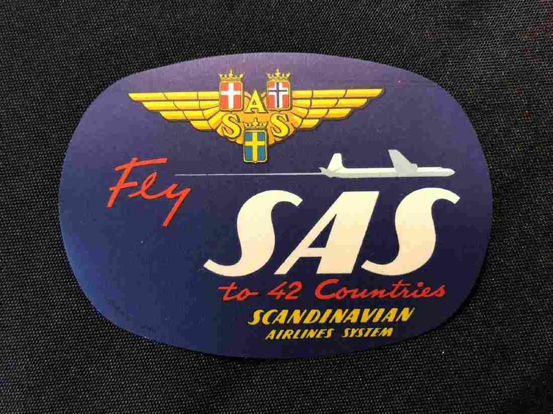 Scandinavian Airlines System SAS Sticker / Decal / Lugg