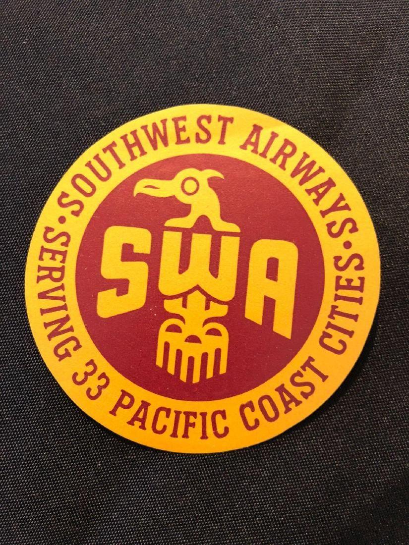 Southwest Airways SWA Sticker / Decal / Luggage Label