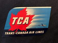 TransCanada Airlines TCA Sticker  Decal  Luggage Lab