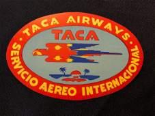 TACA Airways Sticker / Decal / Luggage Label