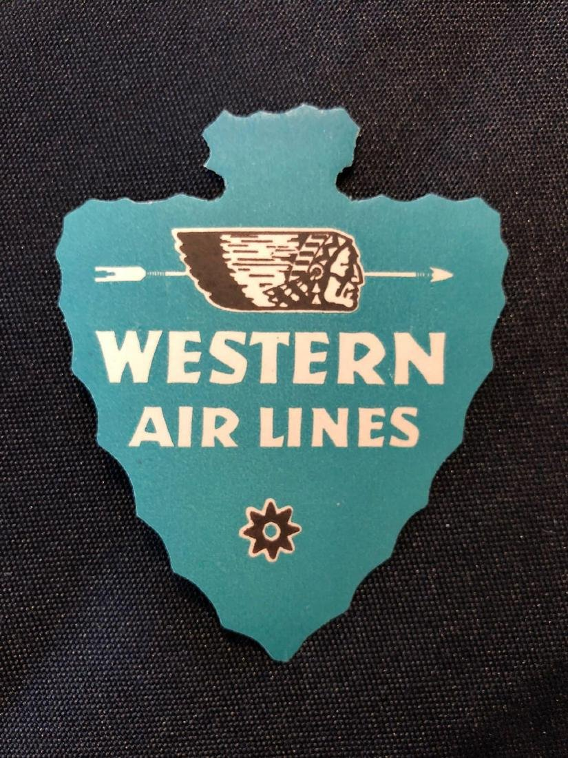 Western Airlines Blue Arrowhead Sticker / Decal / Lugga