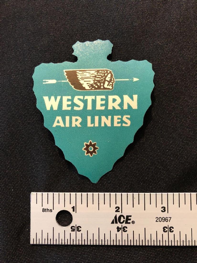 Western Airlines Blue Arrowhead Sticker / Decal / Lugga - 3