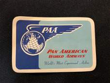 Pan American World's Airways PAA Sticker / Decal / Lugg