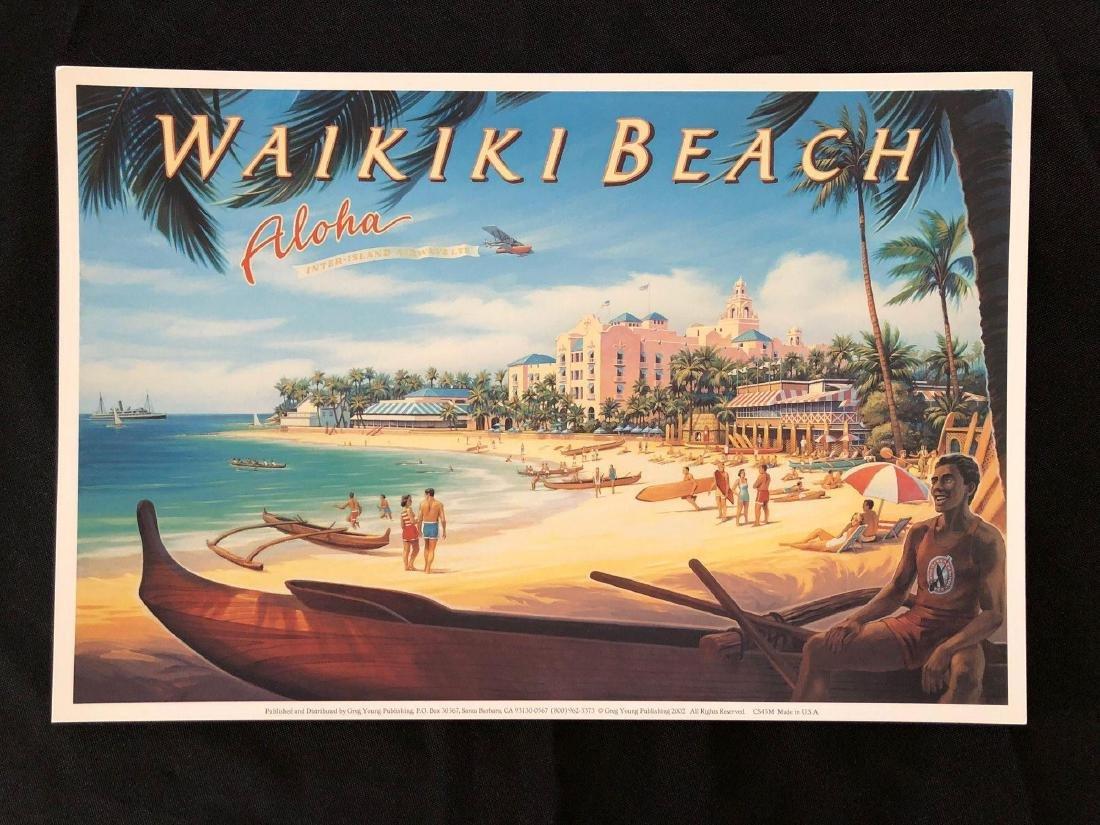 """Waikiki Beach Aloha 13"""" x 8 3/4"""" Poster"""