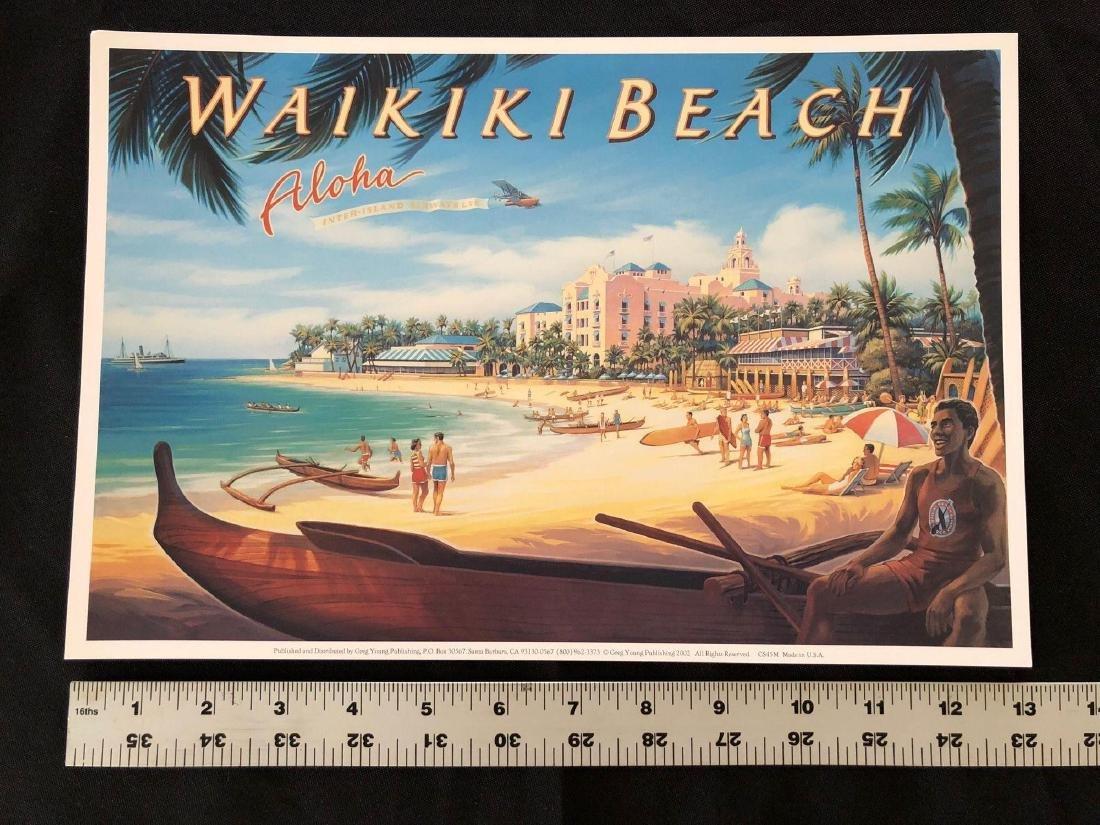 """Waikiki Beach Aloha 13"""" x 8 3/4"""" Poster - 3"""