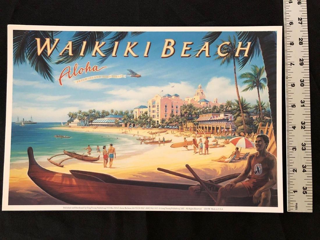 """Waikiki Beach Aloha 13"""" x 8 3/4"""" Poster - 4"""