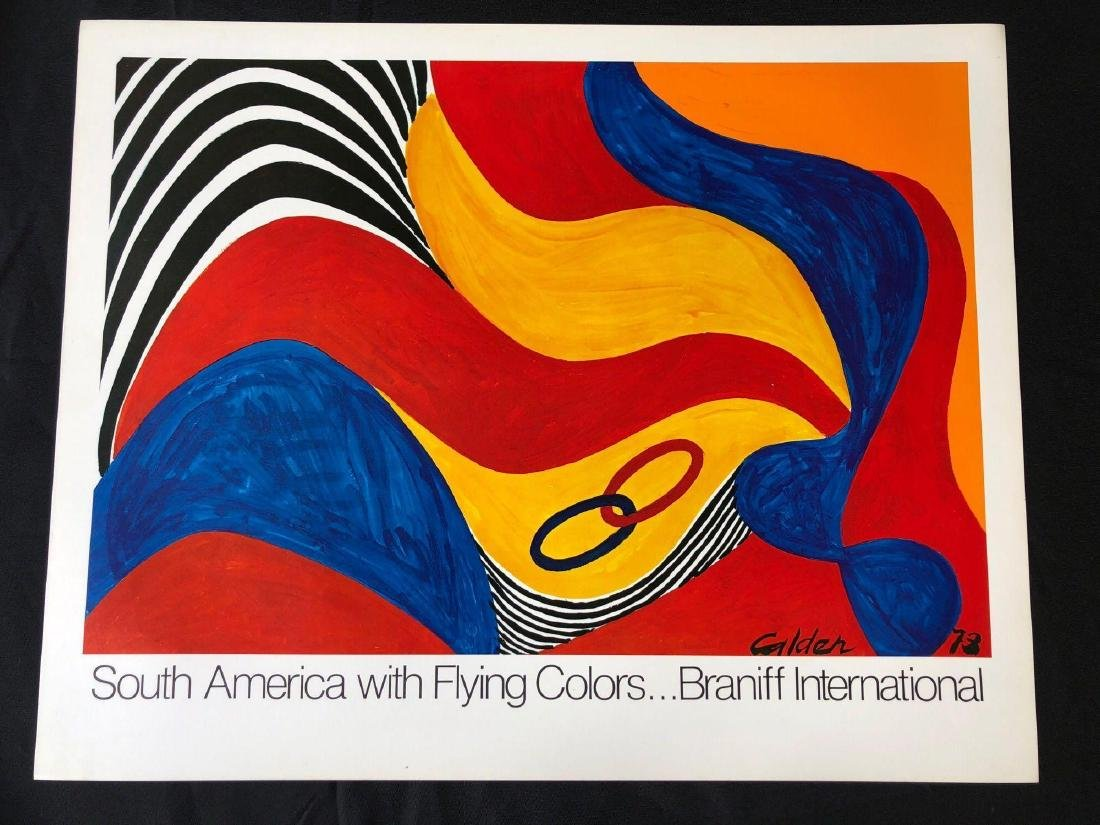 South America with Flying Colors Poster