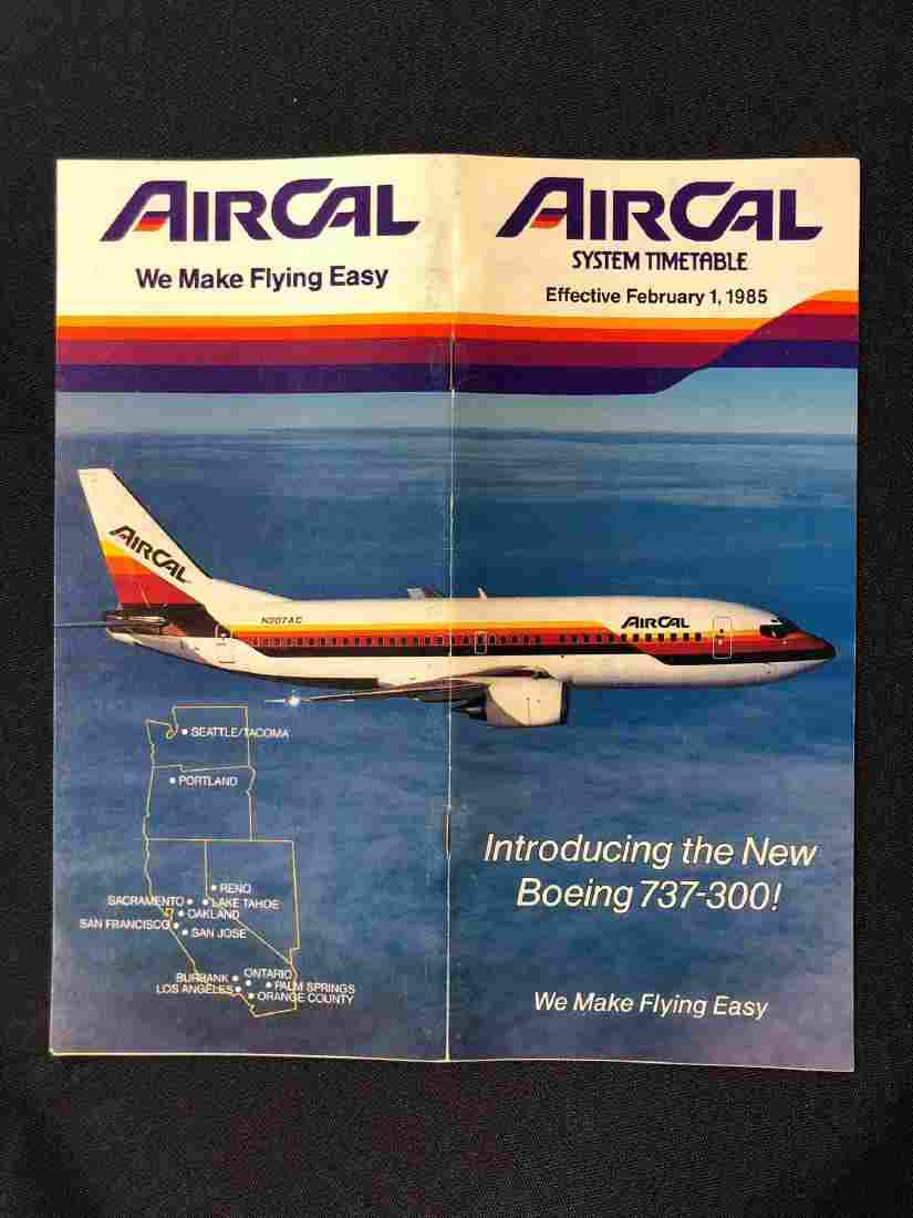 Air Cal System Timetable 02/1/85