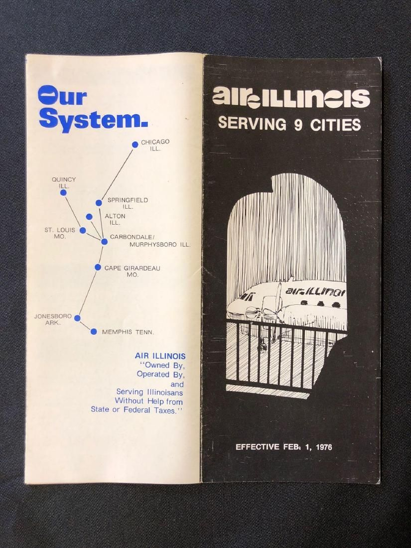 Air Illinois System Timetable 2/1/76