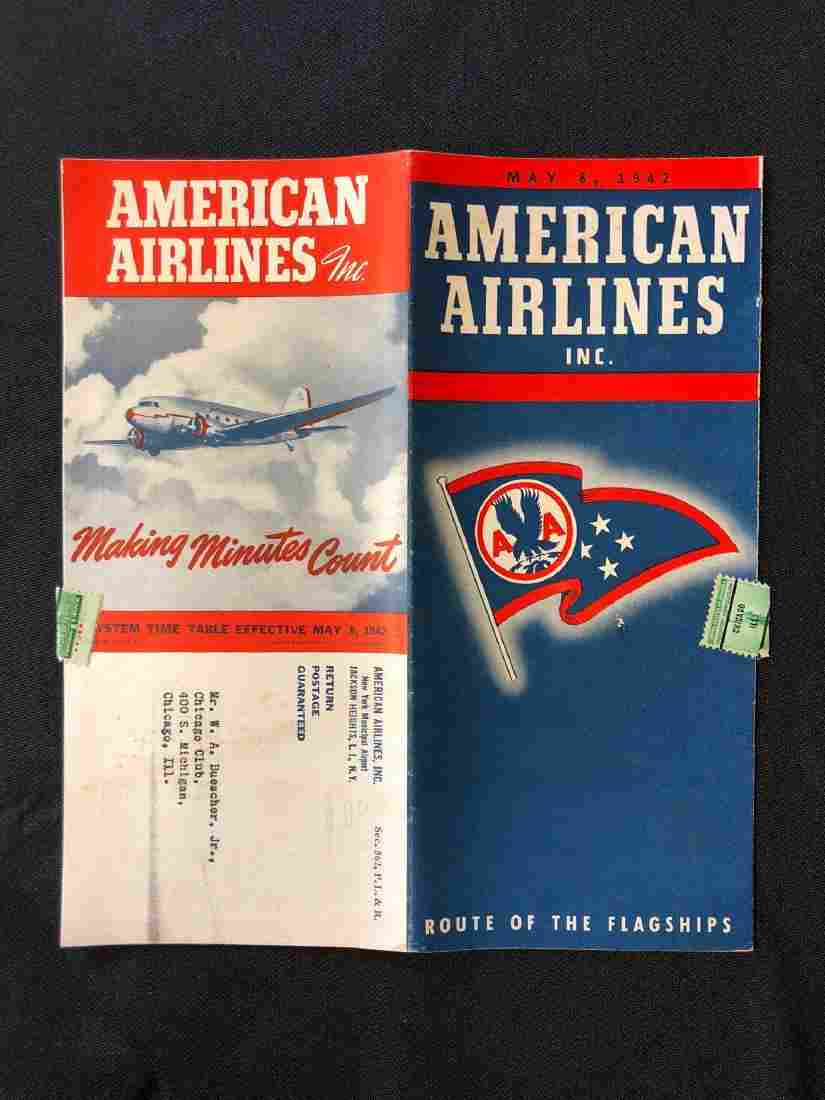 American Airlines System Timetable 5/8/42
