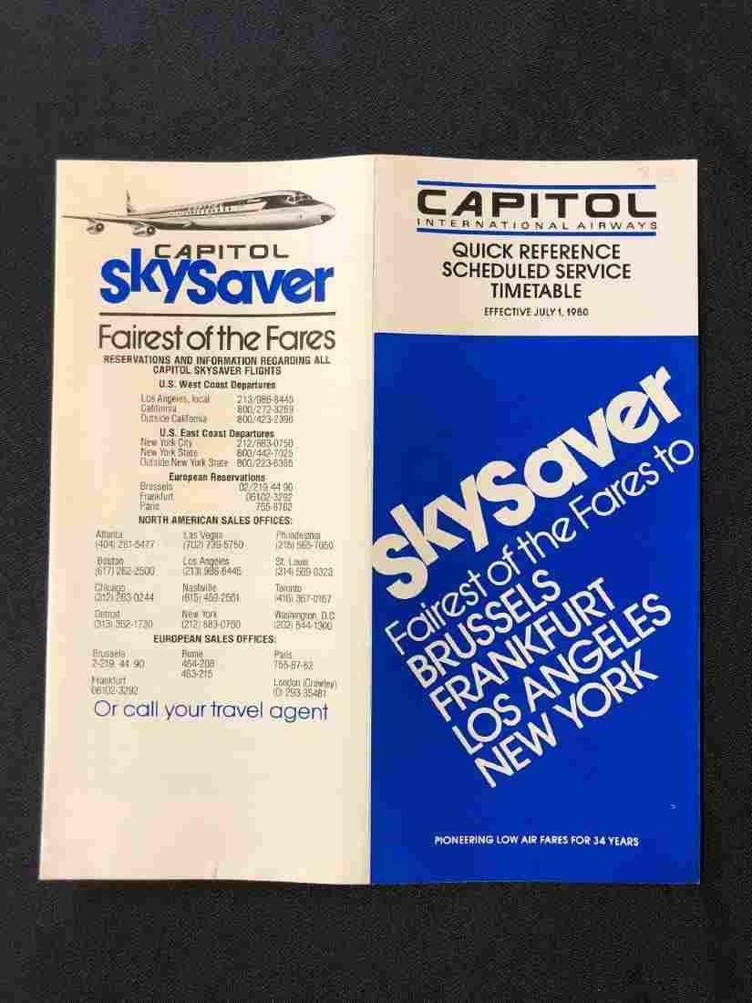 Capital International Airways system timetable 6/1/80