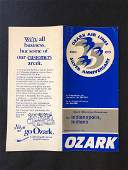 Ozark Air Lines System Timetable 11576
