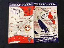 Pan American Airways System Timetable 05/7/37 Havana-Na
