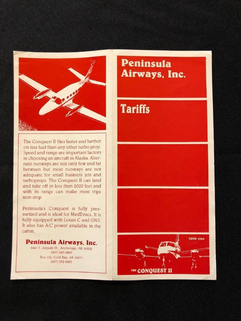 Peninsula Airways, Inc System Timetable 6/86