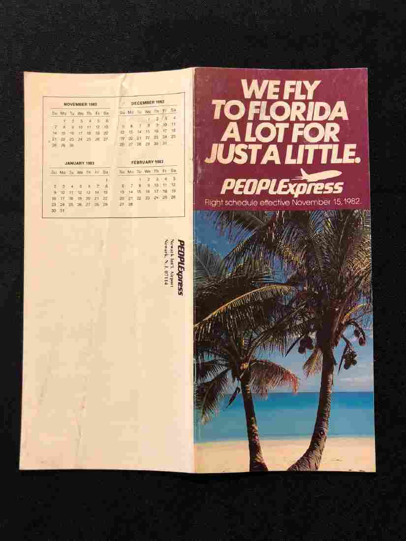 PeoplExpress System Timetable 11/15/82