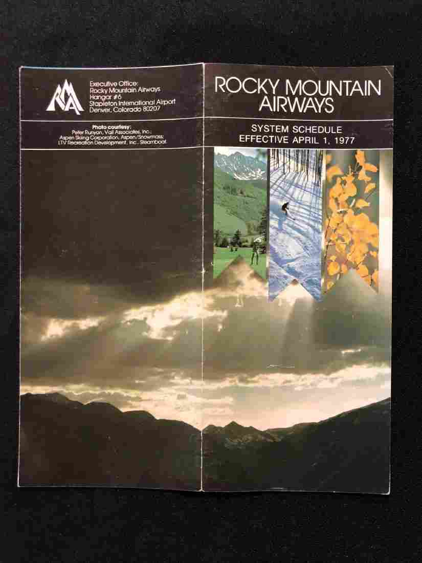 Rocky Mountain Airways System Timetable 4/1/77