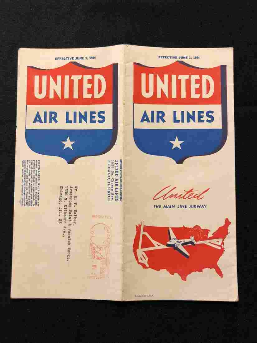 United Airlines System Timetable 6/1/44