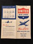United Airlines System Timetable 6/1/46