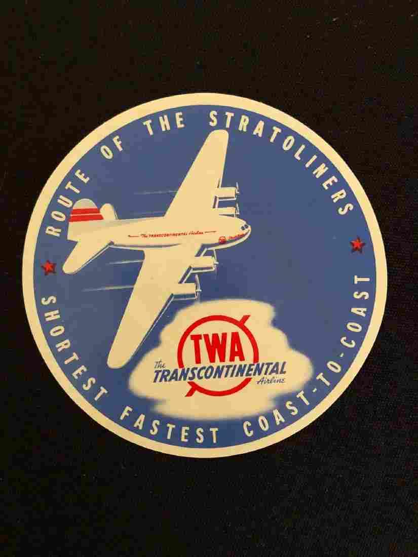 TWA Luggage Label / Decal