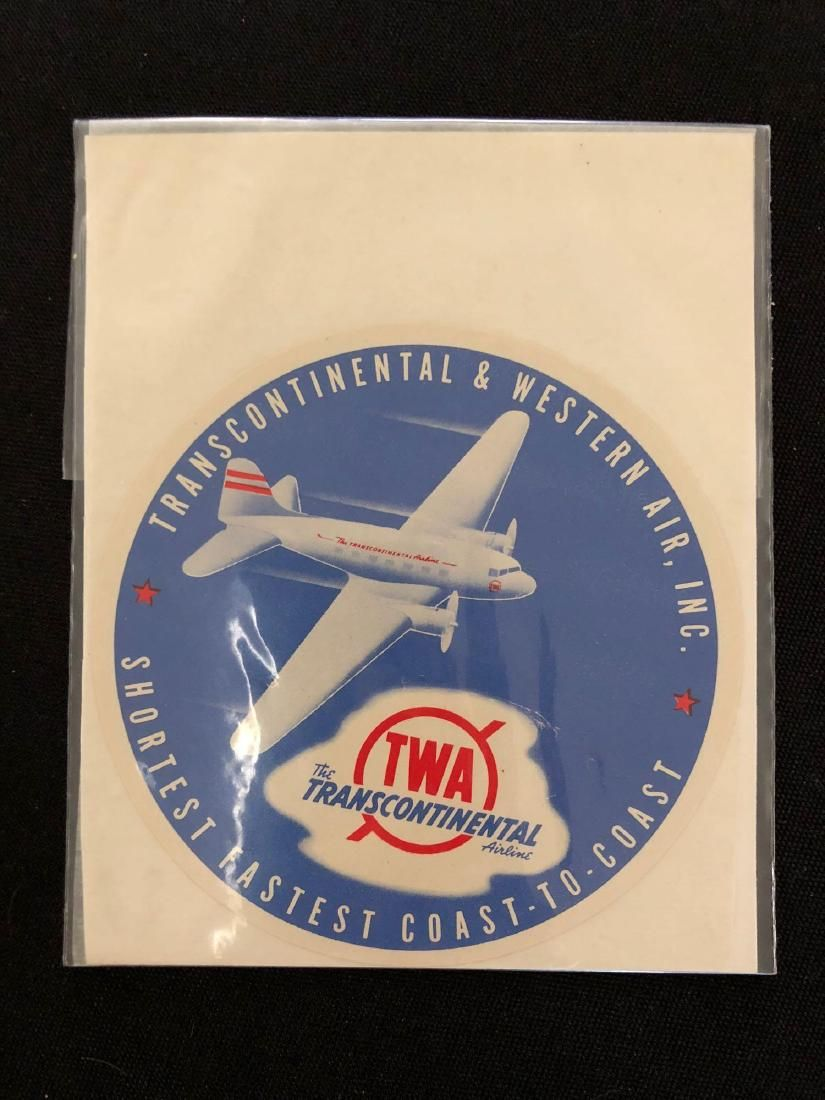 TWA Luggage Label / Decal