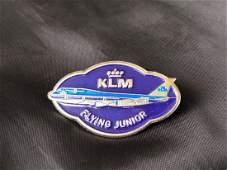 KLM Airline 1970s Junior Pilots Pin