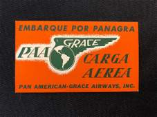 Pan American Airlines Grace Embarque Por Panagra Luggag