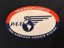 Pan American Airlines Transatlantic Luggage Sticker / D
