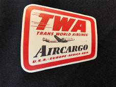 TWA Trans World Airlines Aircargo Sticker  Decal  Lug