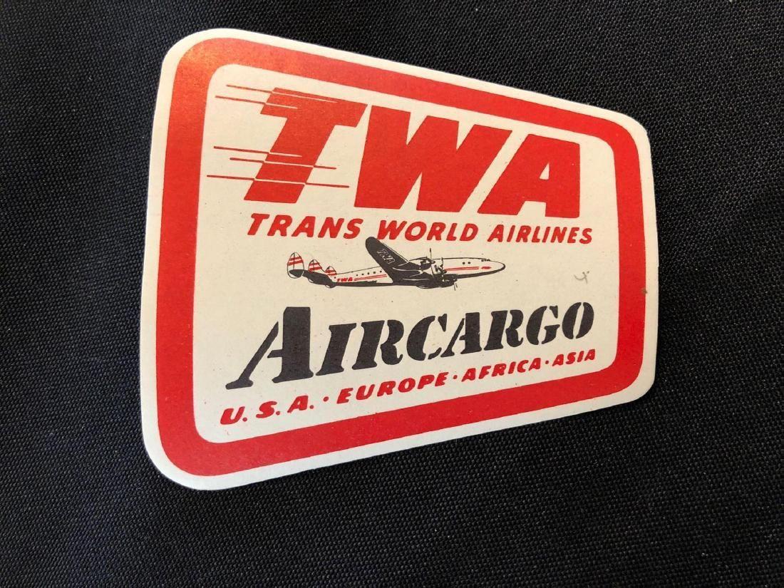 TWA Trans World Airlines Aircargo Sticker / Decal / Lug