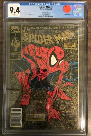 SpiderMan 1 CGC 94 w WHITE Pages UPC Gold Edition