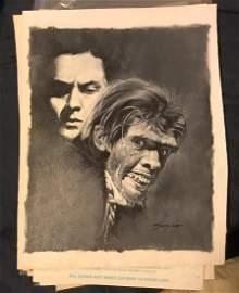 San Julian Original Dr. Jekell & Mr. Hyde Oil on Canvas