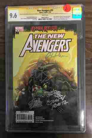 New Avengers 55 CGC 96 w WHITE Pages Signed by