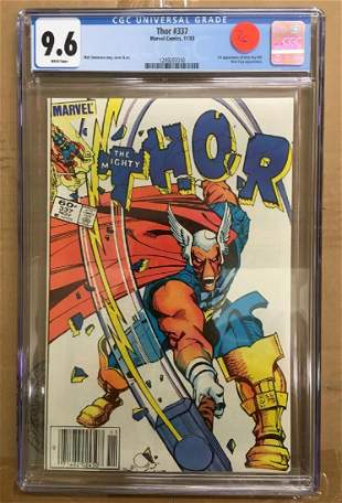 Thor 337 CGC 96 wWHITE pages 1st Beta Ray Bill