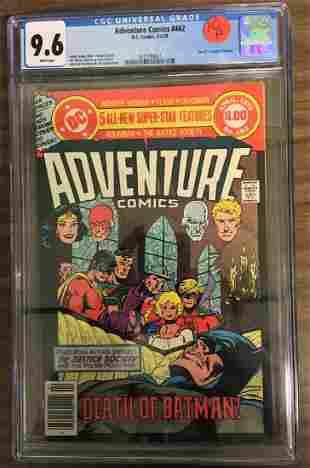 Adventure Comics 462 CGC 96 w WHITE Pages Death