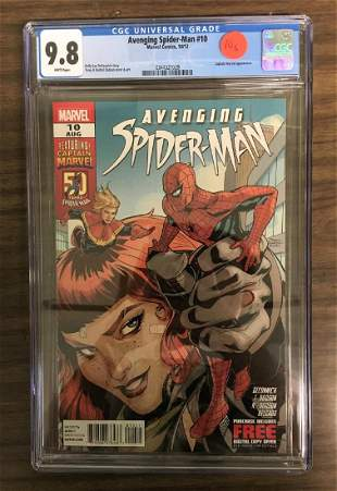 Avenging SpiderMan 10 CGC 98 w WHITE Pages