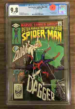 Spectacular SpiderMan 64 CGC 98 w WHITE Pages