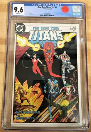 Tales of the Teen Titans 1 CGC 96 wWHITE Pages
