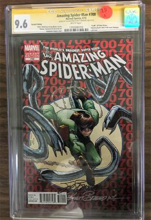 Amazing SpiderMan 700 CGC 96 w WHITE Pages Signed