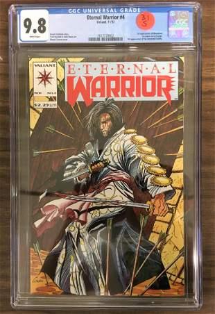 Eternal Warrrior 4 CGC 98 w WHITE Pages First